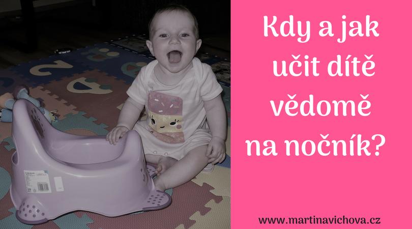 Kdy vědomě učit dítě na nočník
